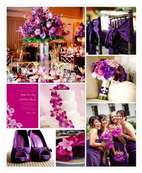 purple and silver make a glamorous combination in the purple wedding color combinations