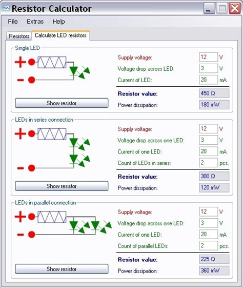 resistor calculator software images