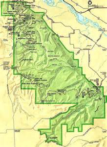 colorado national monument map colorado national