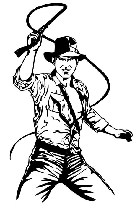 indiana jones coloring book pages indiana jones and his