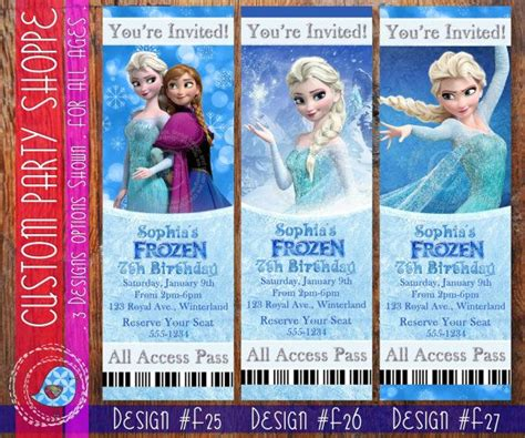 Printable Frozen Movie Ticket Invitations   free frozen movie ticket printable party invitations ideas