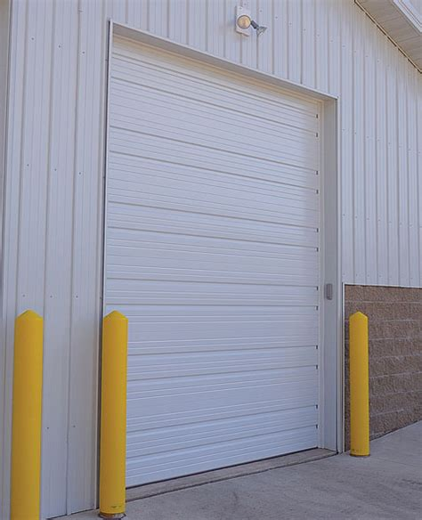 Steel Overhead Doors Ribbed Steel Garage Door Commercial Insulated Or Uninsulated