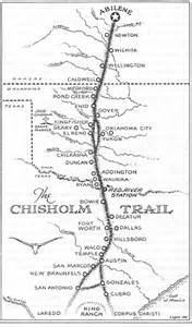 chisholm trail map views of the past joseph g mccoy and the chisholm trail