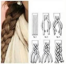 how to super cute 4 strand braid step by step diagram
