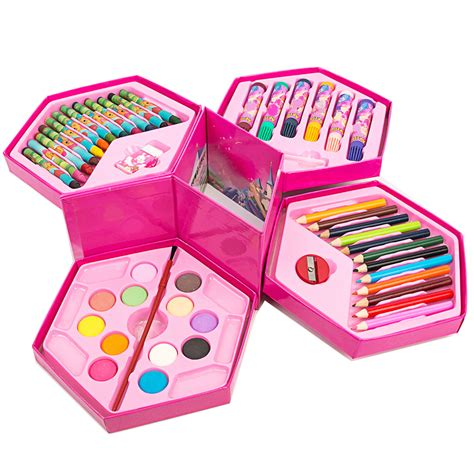 8 Adorable Stationery Kits by 46pcs Practical Student Painting Stationery Set Gift Box