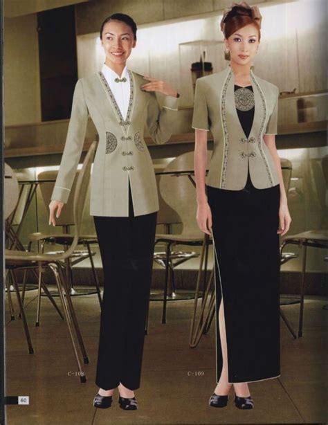 Seragam Waiter hotel staff uniforms for waiters waitress