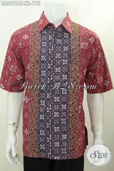 Busana Pria Pakaian Baju Kemeja Pendek Motif Batik Murah baju kemeja batik halus motif keren proses cap tulis