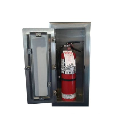 semi recessed fire extinguisher cabinet stainless steel semi recessed built in steel cabinet for 10 lbs fire