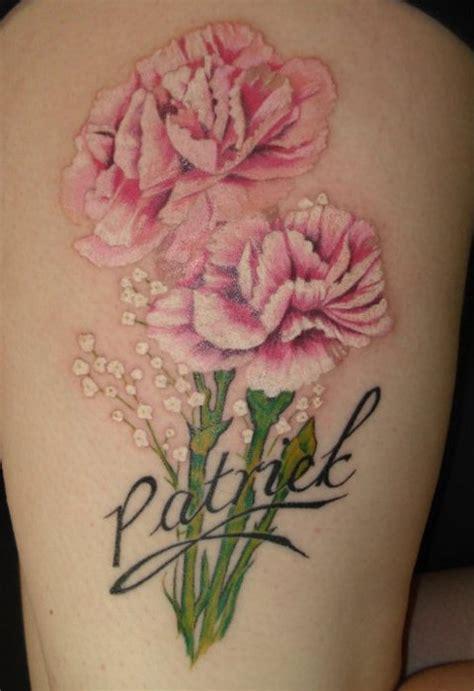tattoo carnation flower carnation flower tattoo images in black carnation