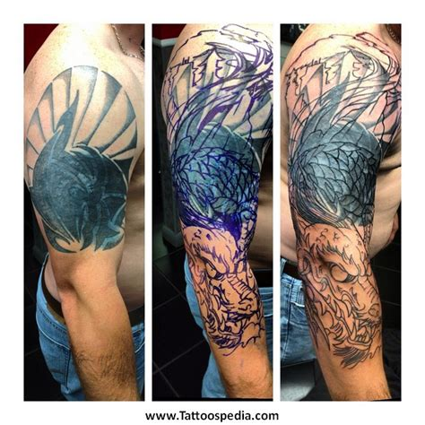 cover up dragon tattoo designs tribal cover up ideas 3