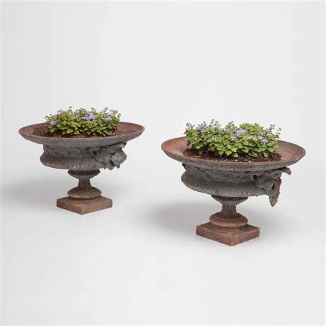 Urn Planters For Sale by Pair Of 19th Century Iron Urn Planters For Sale At 1stdibs