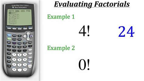 calculator factorial ti calculator tutorial factorials youtube