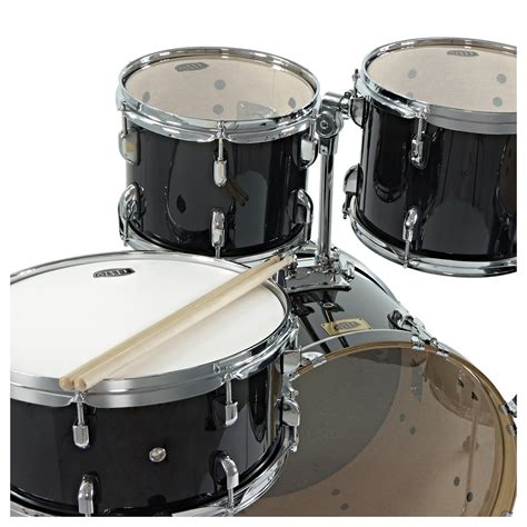 swing drums whd birch 5 piece swing drum kit black at gear4music com