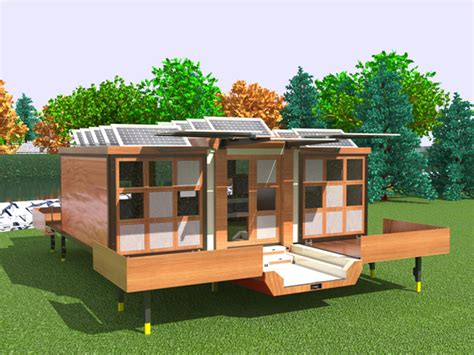 Expanding Solar Tiny Home On Wheels Expandable Tiny House