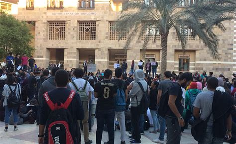 American In Cairo Mba Fees by Auc Students Strike In Protest Of Recent Tuition Fee Hikes