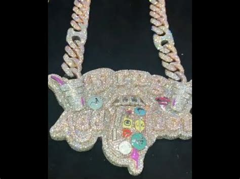 lil pump necklace lil pump shows off his new quot drug addict quot chain youtube
