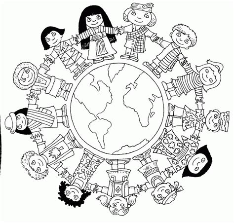 color the world a coloring book for the world traveler books children of the world coloring page coloring home