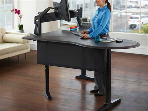 stand to sit desk kitchen and home trend