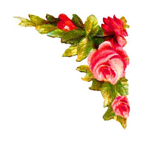 design flower rose antique images digital rose corner design printable