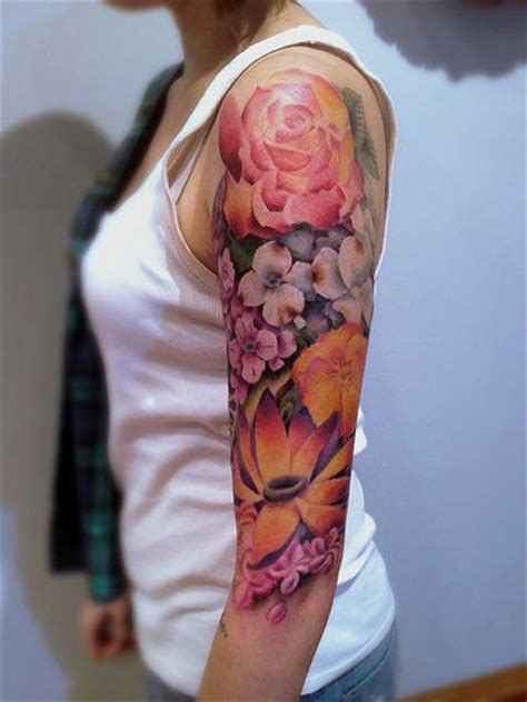 cute sleeve tattoos 10 best flower tattoos for your arms pretty designs