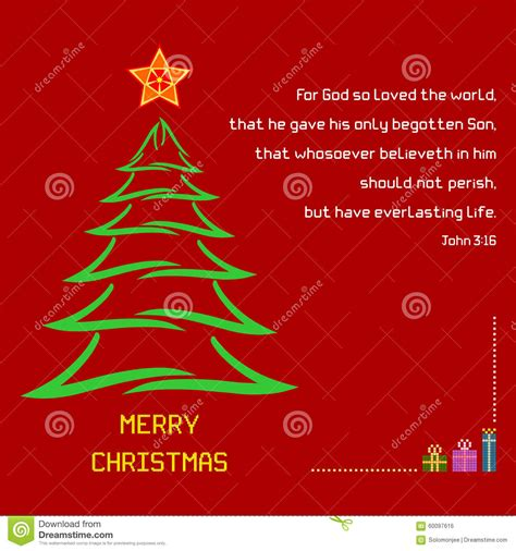 bible verses for christmas tree holy bible verse 3 16 stock vector illustration of colorful message 60097616