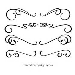 Kitchen Shapes scrolls calligraphic 1 ready 2 cut designs