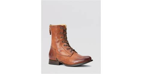 frye lace up boots frye lace up boots artisan in brown whiskey lyst