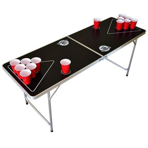 portable beer pong table 6 ft black