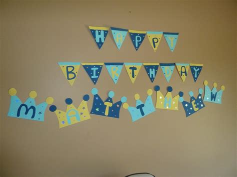 cute printable birthday banner prince birthday party banner brody s 1st birthday ideas