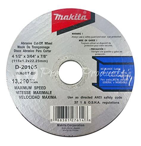 Wheel Makita 4 Inch Cutting Wheel Makita D 40706 makita 10 pack 4 1 2 cutting wheels for grinders