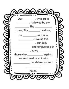 understanding the lord s prayer worksheet our prayer www pixshark images galleries with a bite