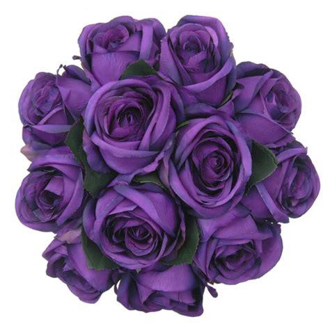 Vase Packaging Brides Purple Silk Rose Wedding Posy Bouquet Sarah S Flowers