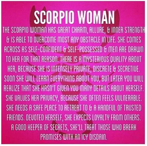scorpio woman astrology personality pinterest