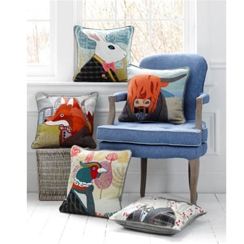 Patchwork Accessories Uk - spencer stag tweed patchwork cushion from curiosity interiors