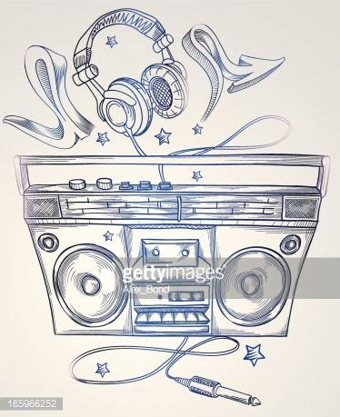 boombox tattoo designs boombox headphones arte vettoriale tattoos