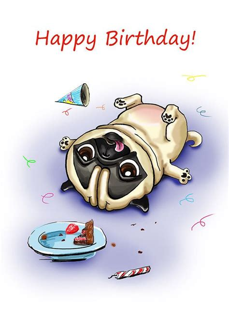 imagenes happy birthday funny drawn pug awesome birthday pencil and in color drawn pug