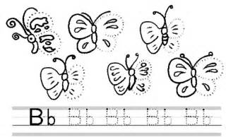 Free printable letter b writing worksheets and kids letter coloring