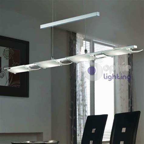 sospensioni illuminazione lada sospensione led cucina acciaio cromato