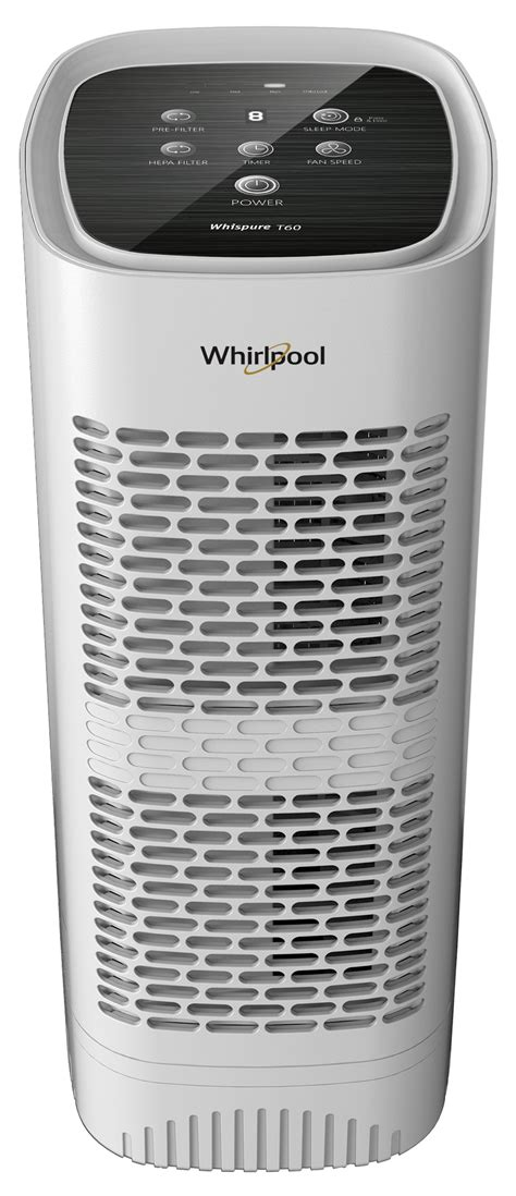 buy whirlpool wpt60 whispure tower air purifier pearl white