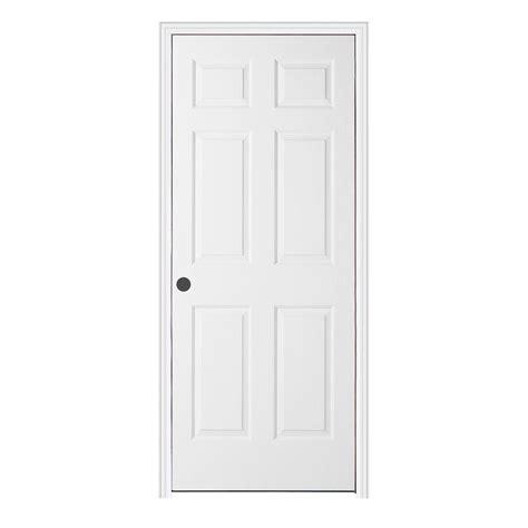 Split Jamb Interior Doors Jeld Wen 36 In X 80 In Woodgrain 6 Panel Primed Molded Split Jamb Single Prehung Interior Door