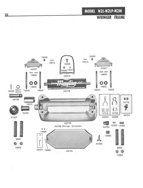 Maytag N2 Wringer Washer Parts Manual