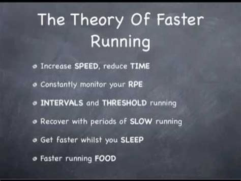how to a to jog with you how to run faster the theory of faster running