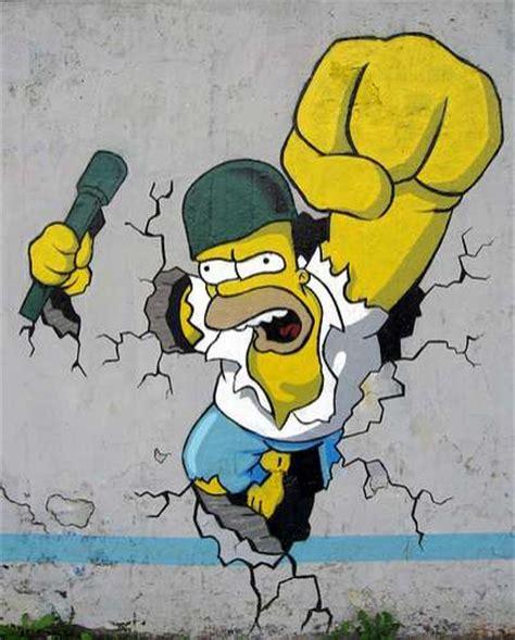 imagenes de grafitis increibles graffitis de los simpson taringa