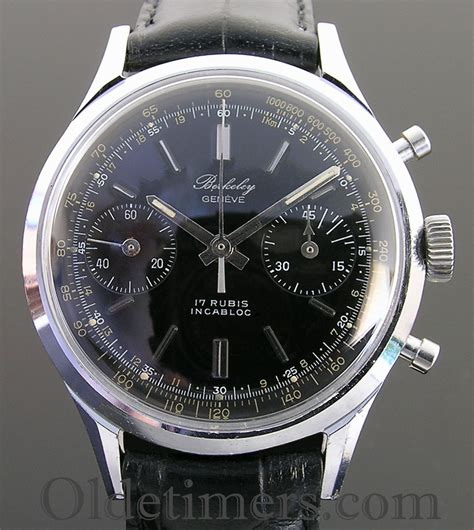 1950s steel vintage berkeley chronograph 3146