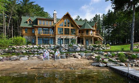 luxury cabin homes biggest luxury log home log cabin homes michigan dream