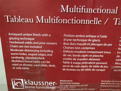 klaussner multifunctional table 639057 klaussner multifunctional table