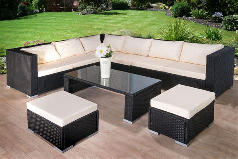 modern rattan garden furniture sofa set lounger 8 seater