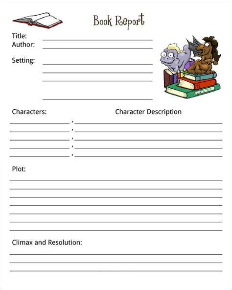 7 book report template
