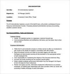 executive assistant templates administrative assistant description template 9