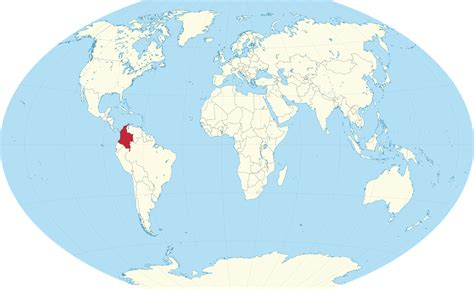 colombia map of the world colombia in world map